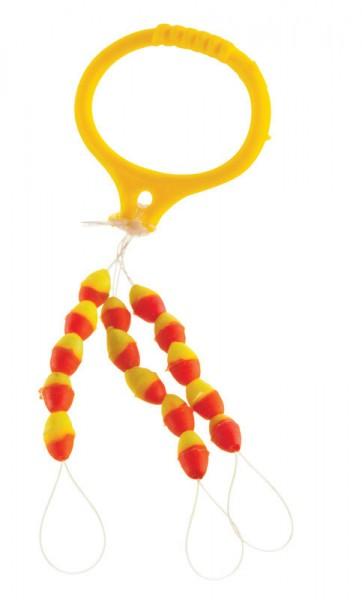 Cormoran Silikon-Schnurstopper - gelb/rot - L