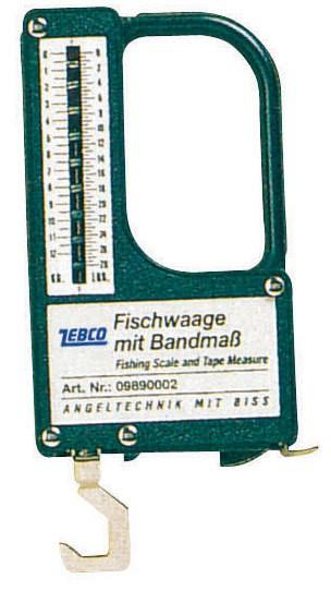 Zebco Fischwaage mit Massband