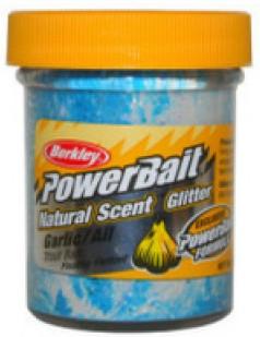 Berkley Powerbait Natural Scent Troutbait Garlic - Blue-White-Neon